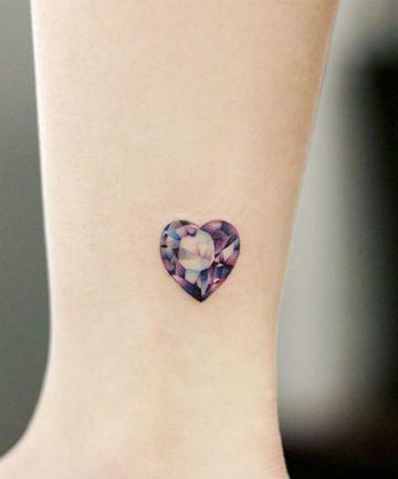 6e5646b39b348 21 Gemstone Tattoos So Pretty You Won't Need Jewelry Anymore   My ...