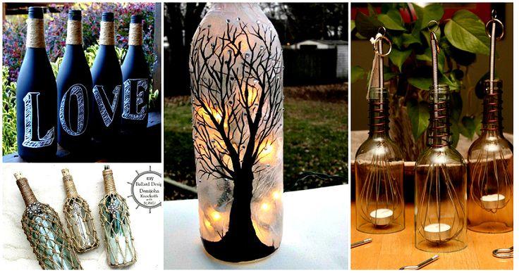 20 idées INGÉNIEUSES pour récupérer les bouteilles de vin et en faire de jolies choses!