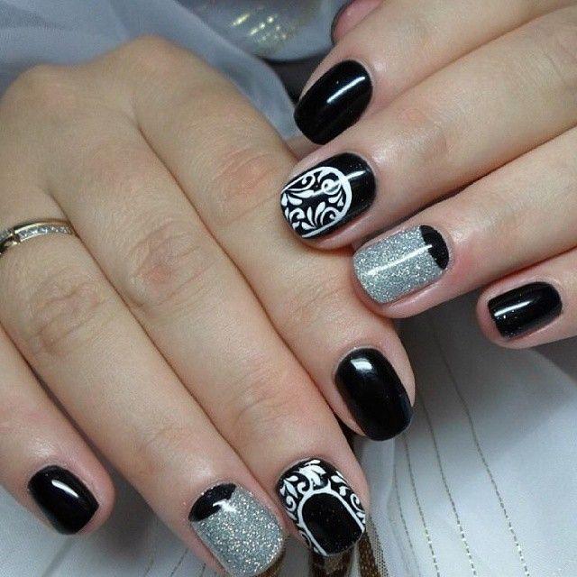 Черные ногти — уже давно не эпатаж... #маникюр #ногти #дизайнногтей #нейларт #nails #nailart #manicure Nail Art # маникюр # ногти # nails # nail # дизайн ногтей # гель лак # гель # гелевые ногти # шеллак…»