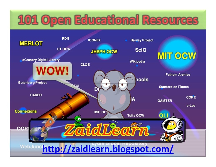 101-open-educational-resources-presentation by Zaid Alsagoff via Slideshare