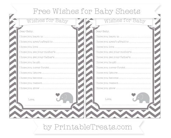 Taupe Grey Chevron  Baby Elephant Wishes for Baby Sheets
