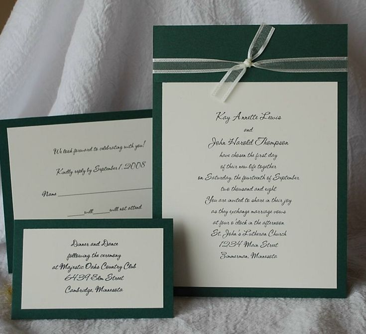 invitation letter for us vissample wedding%0A hunter green weddings   Find Me Diy Hunter Green Wedding Invitations    Wedding Come True