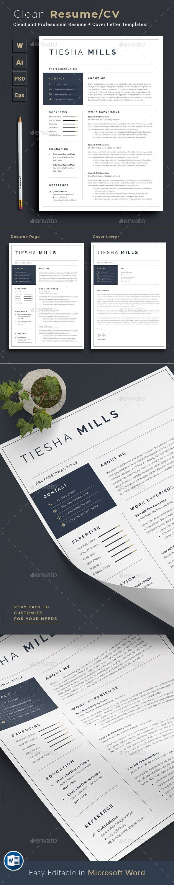 Resume Infographic Resume Clean Resume Template Resume Words