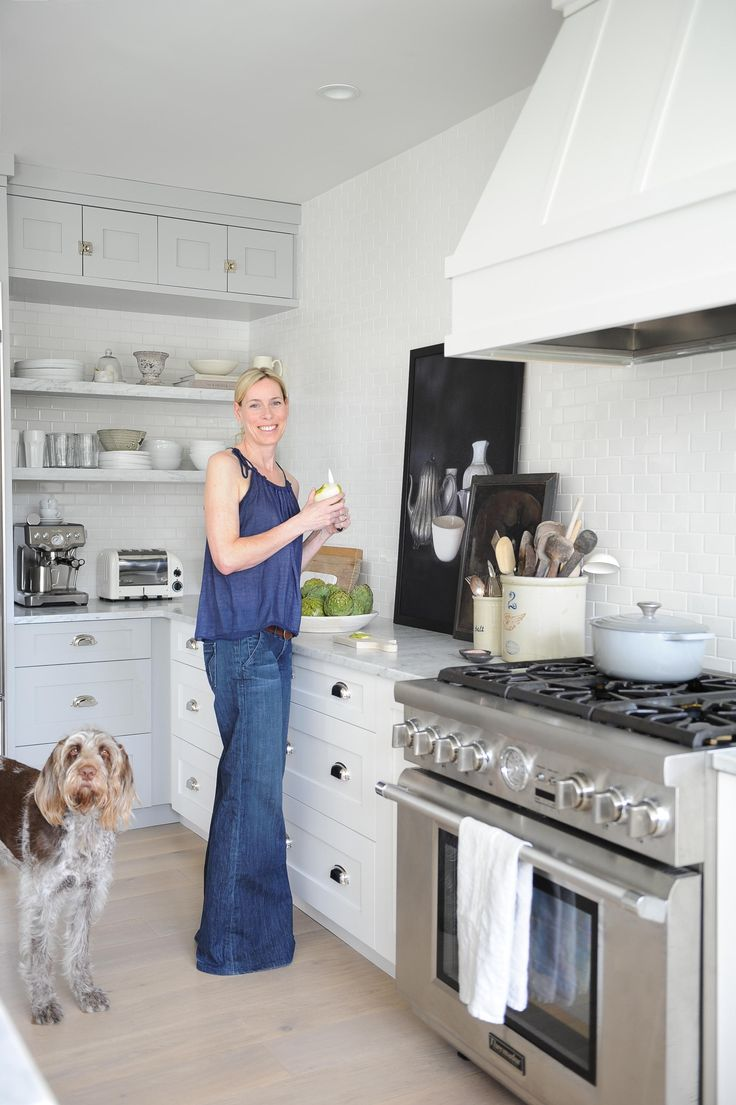 A photo of me and Frankie for when House & Home magazine featured my kitchen Photo by Tracey Ayton