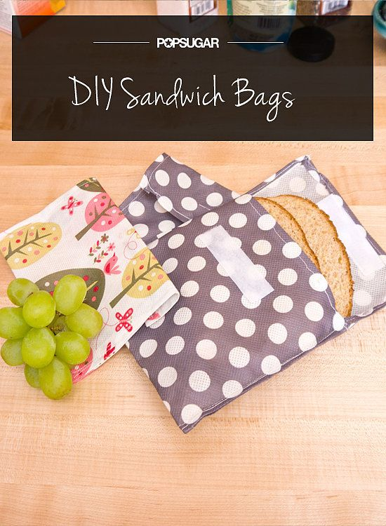 DIY Adorable Sandwich Bags