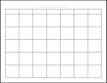 "Free Printable Blank Monthly Calendar. i use for blog goal setting, personal plans, and meal planning calendars. Print 12 and sew together along the top to ""bind"" or add to binder system.                                                                                                                                                                                 More"