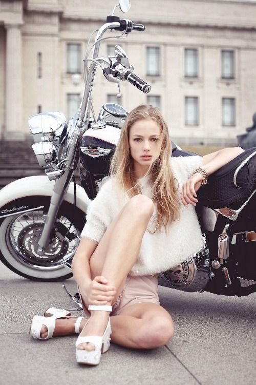 Biker babe.