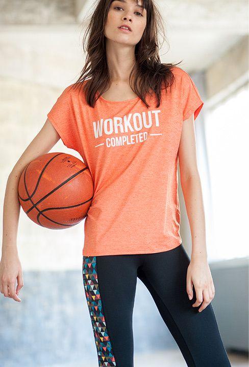 Camiseta mensaje deporte R essentiel