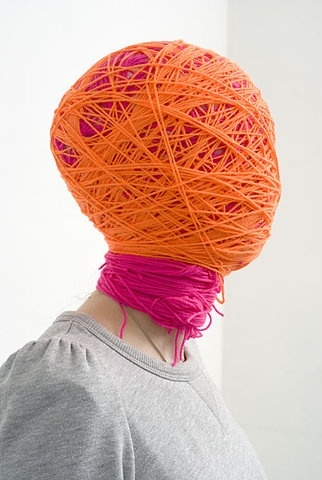 head of coloured ropes
