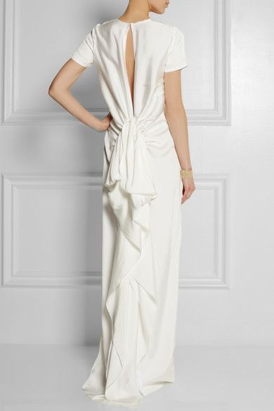 Lanvin | Ruffled satin-twill gown | NET-A-PORTER.COM