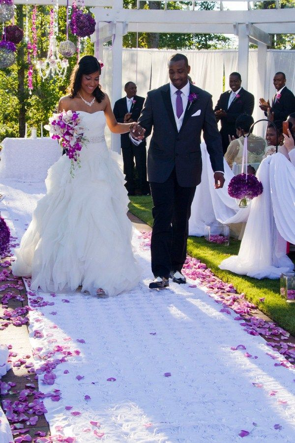 Romantic Plum And Silver Country Club Wedding In North Carolina