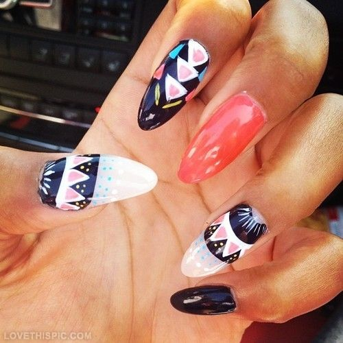 Pointy nail designs summer pointy nails design resume format pointy nail art joy studio design gallery best view images prinsesfo Choice Image