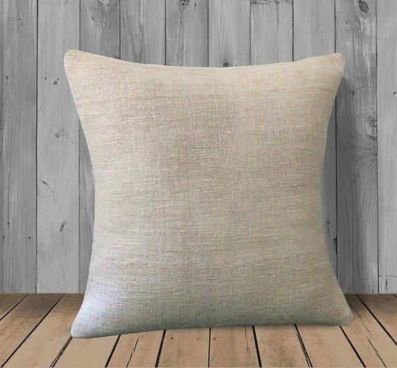 Cream White Turkish Hemp Pillow 20x20 Kilim Pillow Cover Neutral Throw Pillow Cream White Turkish Hemp Pillow 20 2 Sofa Throw Pillows Pillows Sofa Pillows