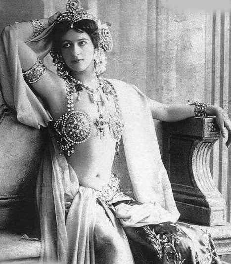 Mata Hari at the height of her fame as a Parisian exotic dancer.