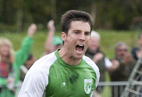 Ross Allen was Guernsey FC's hero with an injury-time goal at Footes Lane on Saturday.