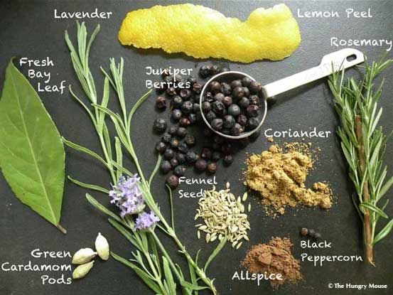 Homemade-Gin-Ingredients-The-Hungry-Mouse-Flat {a botanical infusion}