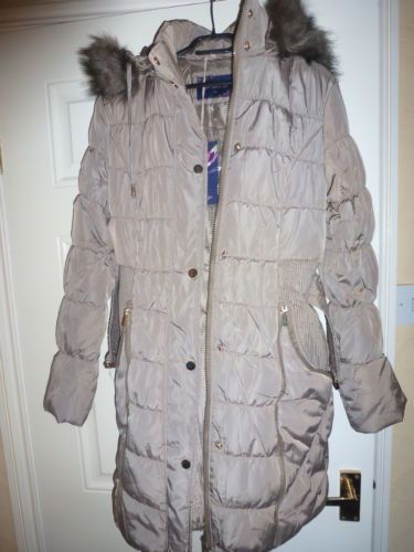 Six hours left to bid or buy don't miss it or you will regret it size M / 10 Womens Ladies Warm Winter Thick Padded Waterproof Hooded Parka Jacket Belt Coat