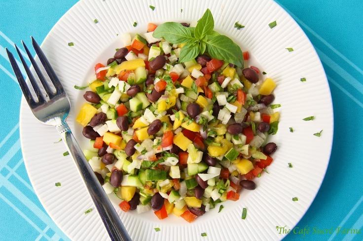 Basil, Cilantro, Honey, Lime, Mango, Jicama & Cucumber Salad (or salsa ...