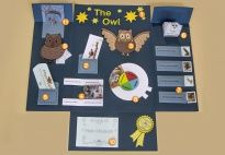 Project Plan - Owl Lapbook - Resources for children in pre-K and kindergarten from KiGaPortal.com