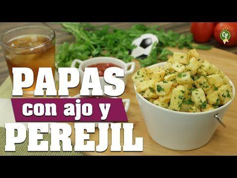 ¿Cómo preparar Papas con Ajo y Perejil? - Cocina Fresca - YouTube