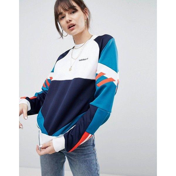 adidas originals nova retro sweatshirt blue