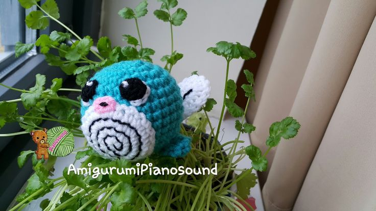 Free Crochet Pokemon Poliwag Pattern and Tutorial