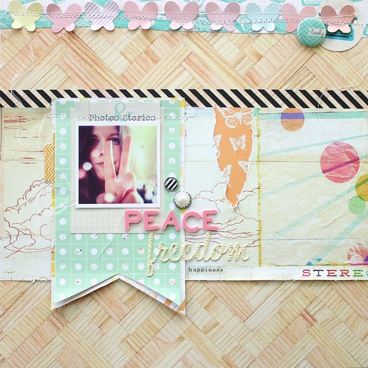 Love the large banner tags: by JWerner #scrapbooking #layout