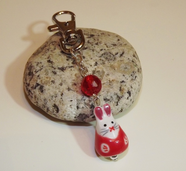 Red Easter Bunny Bag Charm £4.00