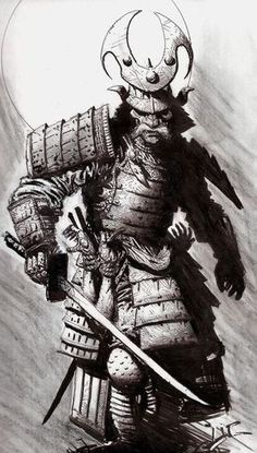 Resultado de imagem para samurai antigo tattoo