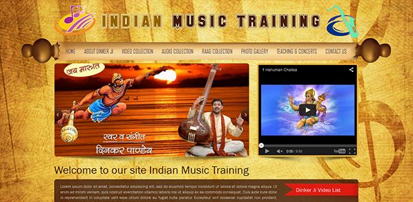 Indian Music training- Music website