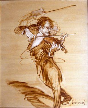 ALLEGRETTO 12F - PEINTURE de Claude WEISBUCH