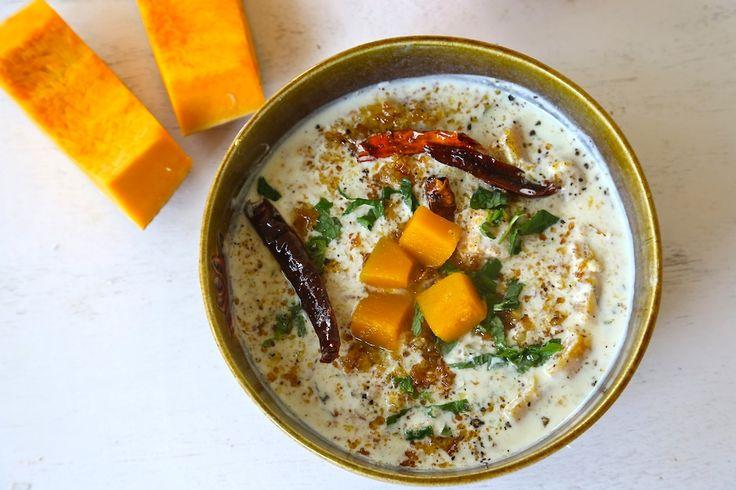 pumpkin in spicy mustard yoghurt