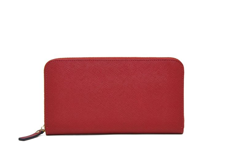 Red Zipper Wallet