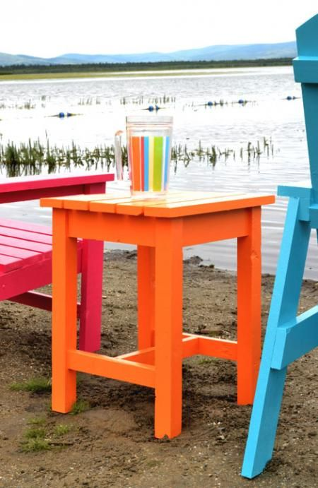 Ana White | Build a Adirondack Stool or End Table | Free and Easy DIY Project and Furniture Plans Want to do this for my first project!!
