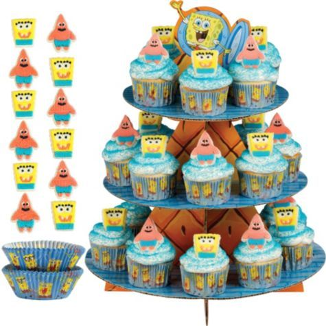 SpongeBob Cupcake Kit for 24 - Party City