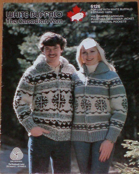 Vintage Cowichan Sweater Knitting Pattern from raincoaststudio