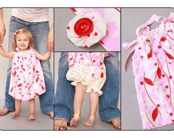 3-6 meses: guinga roja bebé traje vestido y conjunto de