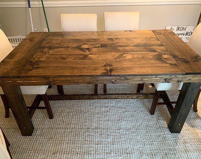 Farmhouse Trestle Table Diy Kit Made To Order In 2020 Diy Table Trestle Table Trestles