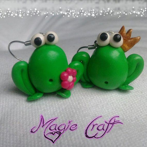 Orecchini Rana in Fimo di MagieCraft su Etsy, €5.00