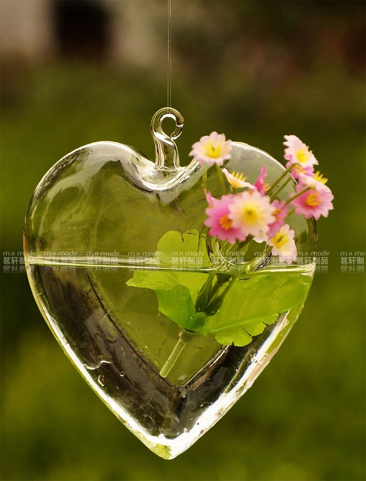 Free Shipping hanging glass lamp bubble round pots heart design flower vases terrarium holder for  home wedding decorations 007-in Vases from Home & Garden on Aliexpress.com | Alibaba Group
