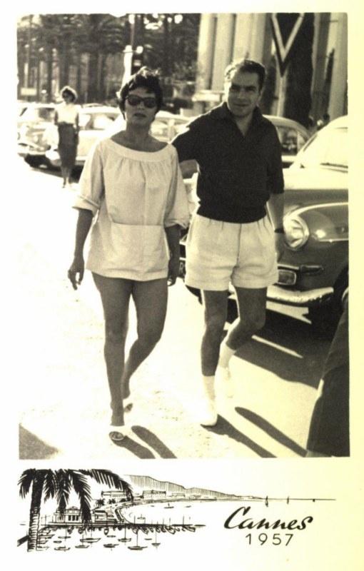 Amália Rodrigues and Domingos Camarinha - Cannes 1957.