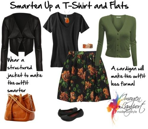Dressing Up Your Casual Cothing - how to take your less formal tshirts and wear them with a more dressy skirt.