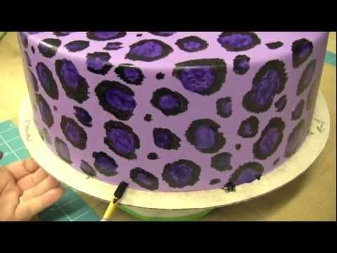 How to Hand-Paint Leopard Print on a Cake-The Krazy Kool Cakes Way                  Cover A Cake With Fondant        by SweetWiseInc                147,567 views