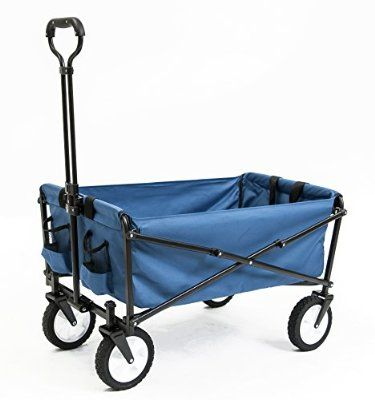 Seina Collapsible Folding Utility Wagon Garden Cart Shopping Beach  Outdoors, Blue U003e Discover This Special Product, Click The Image : Gardening  DIY