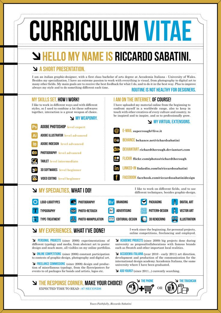 55 best Portfolio/CV images on Pinterest | Infographic resume, Cv ...
