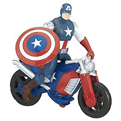 Avengers Marvel Captain America Figure and Vehicle, 6-Inch: Amazon.co.uk: Toys & Games