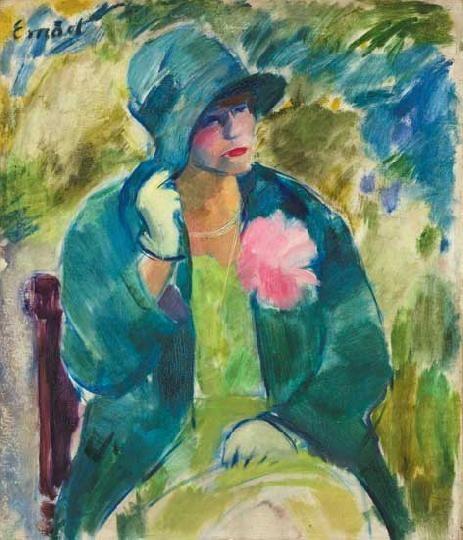 Emőd, Aurél (1897-1958) Lady in a hat