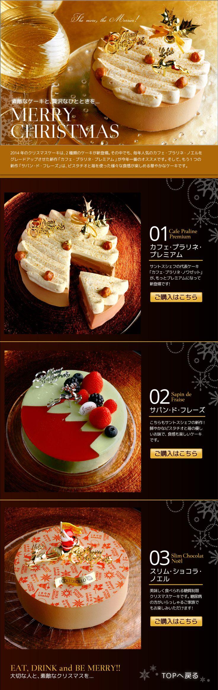 エコール・クリオロ 2014クリスマスケーキ