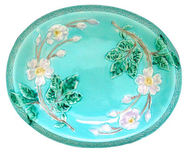 Antique+Majolica+Wild+Rose+Wall+Platter+|+Southern+Accent+|+One+Kings+Lane
