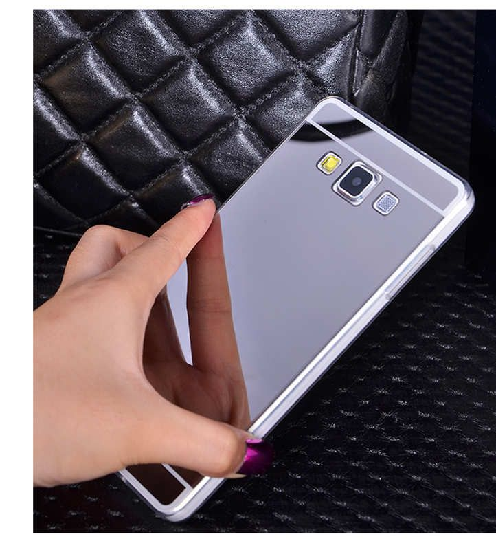 Clear Silicon Plastic Soft Mirror TPU Celular For Samsung Case On A3 A5 A7 J3 J5 J7 And(2016) A3 A5 J3 J5 Gold Silver Back Cover